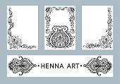 Henna vector banners