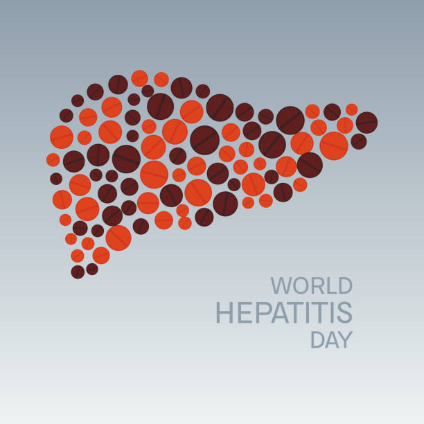 Hepatitis day poster vector art illustration