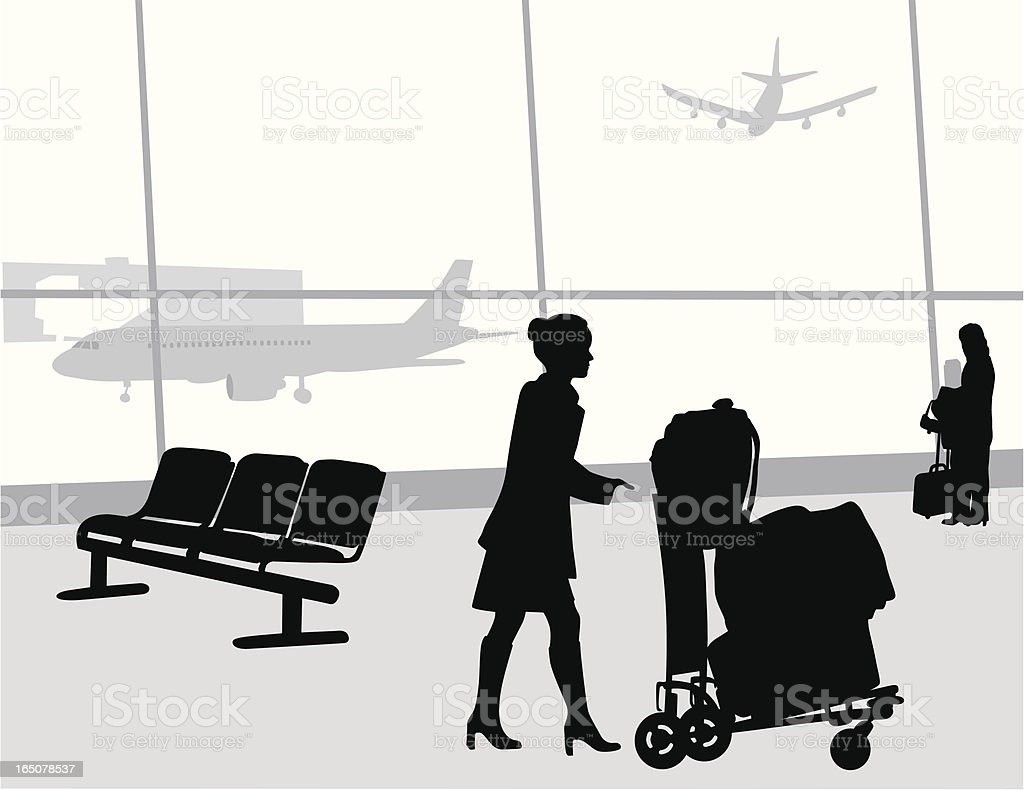 Her Business Vector Silhouette royalty-free her business vector silhouette stock vector art & more images of activity
