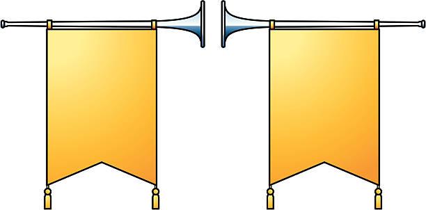 herold trompeten - fanfare stock-grafiken, -clipart, -cartoons und -symbole
