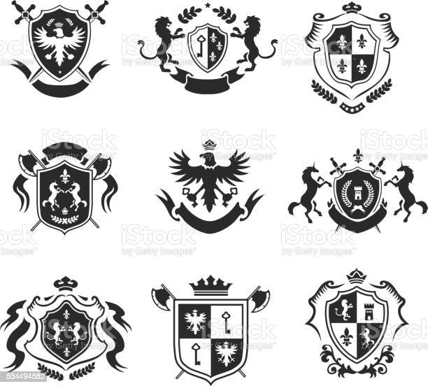 Heraldic coat of arms decorative emblems black set vector id534494582?b=1&k=6&m=534494582&s=612x612&h=ktx3gu5wkkwrdhzns2yy5hpwb oxqrcj5deqvvwldte=