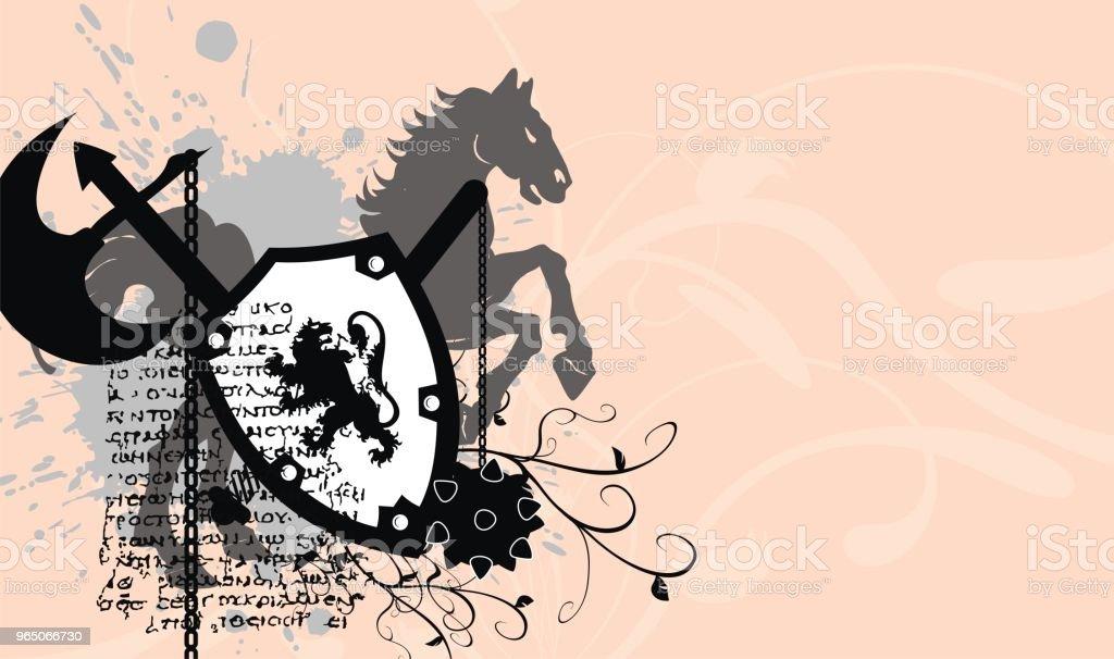 heraldic coat of arms shield tattoo background1 heraldic coat of arms shield tattoo background1 - stockowe grafiki wektorowe i więcej obrazów abstrakcja royalty-free