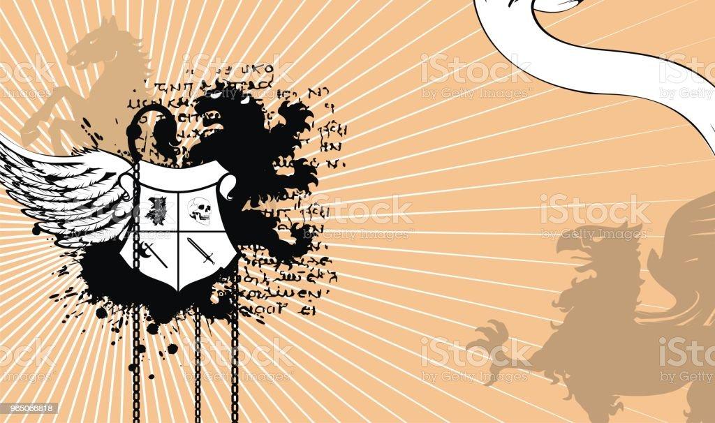 heraldic coat of arms shield tattoo background6 heraldic coat of arms shield tattoo background6 - stockowe grafiki wektorowe i więcej obrazów abstrakcja royalty-free