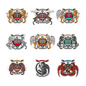 Coat Of Arms, Lion, Insignia, Shield, USA, Horse