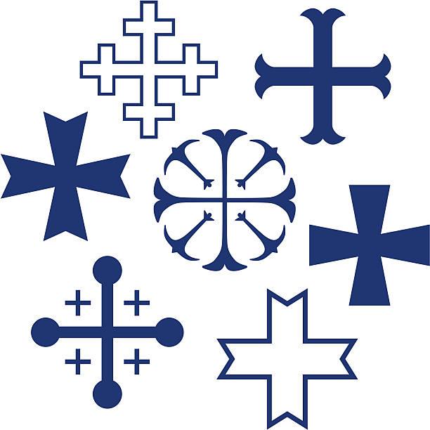 heraldic crosses Various heraldic crosses for your design and heraldry applications maltese cross stock illustrations