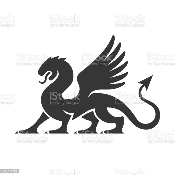 Heraldic dragon silhouette logo vector vector id661599980?b=1&k=6&m=661599980&s=612x612&h=9dyumb3ebgb8zshcu7nubt1vuuf9 rmgaozebbvzyxo=