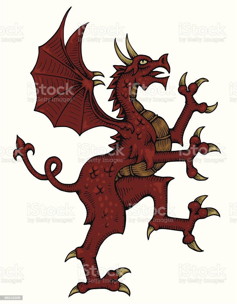 Heraldic Dragon royalty-free heraldic dragon stock vector art & more images of animal themes