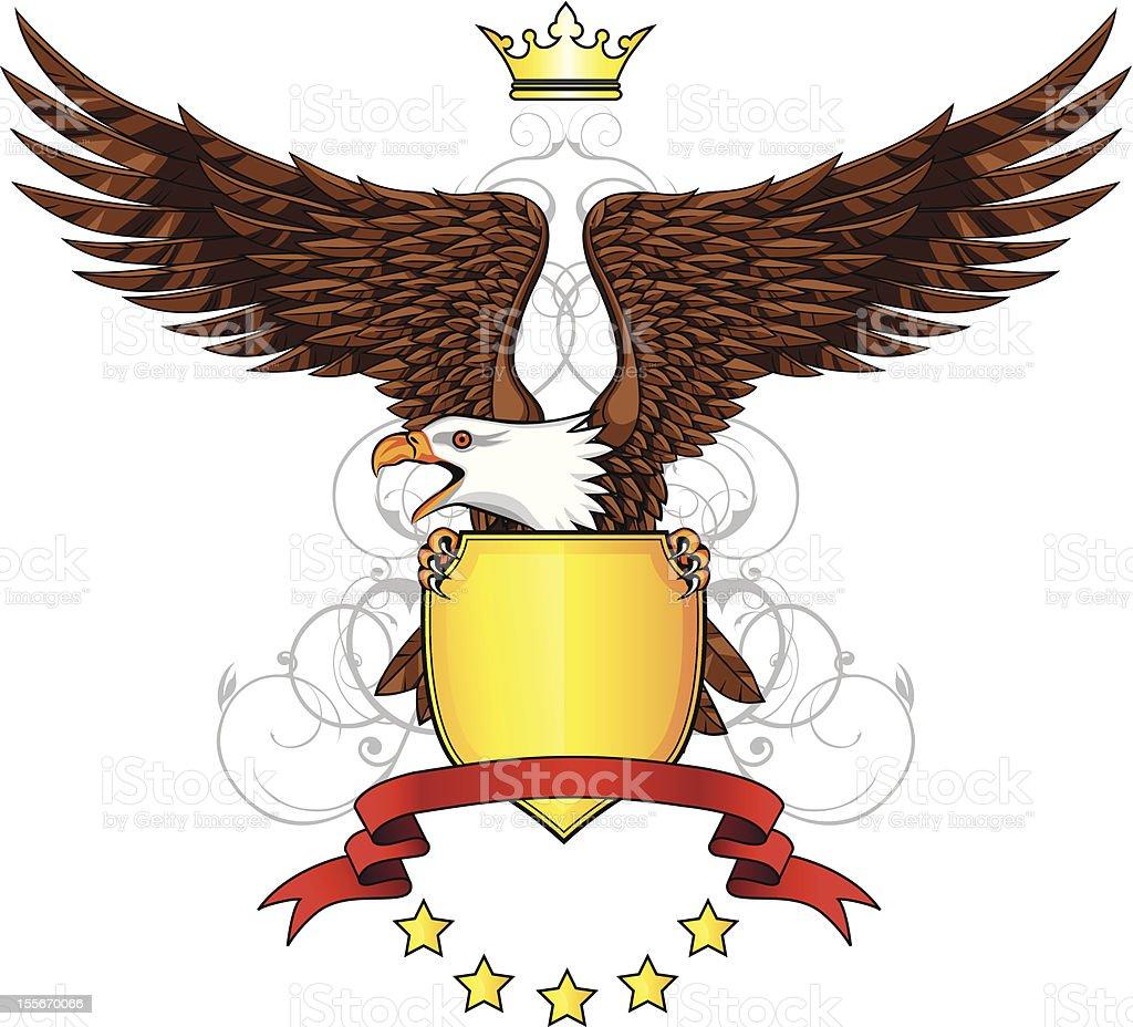 Heraldic eagle - ilustración de arte vectorial
