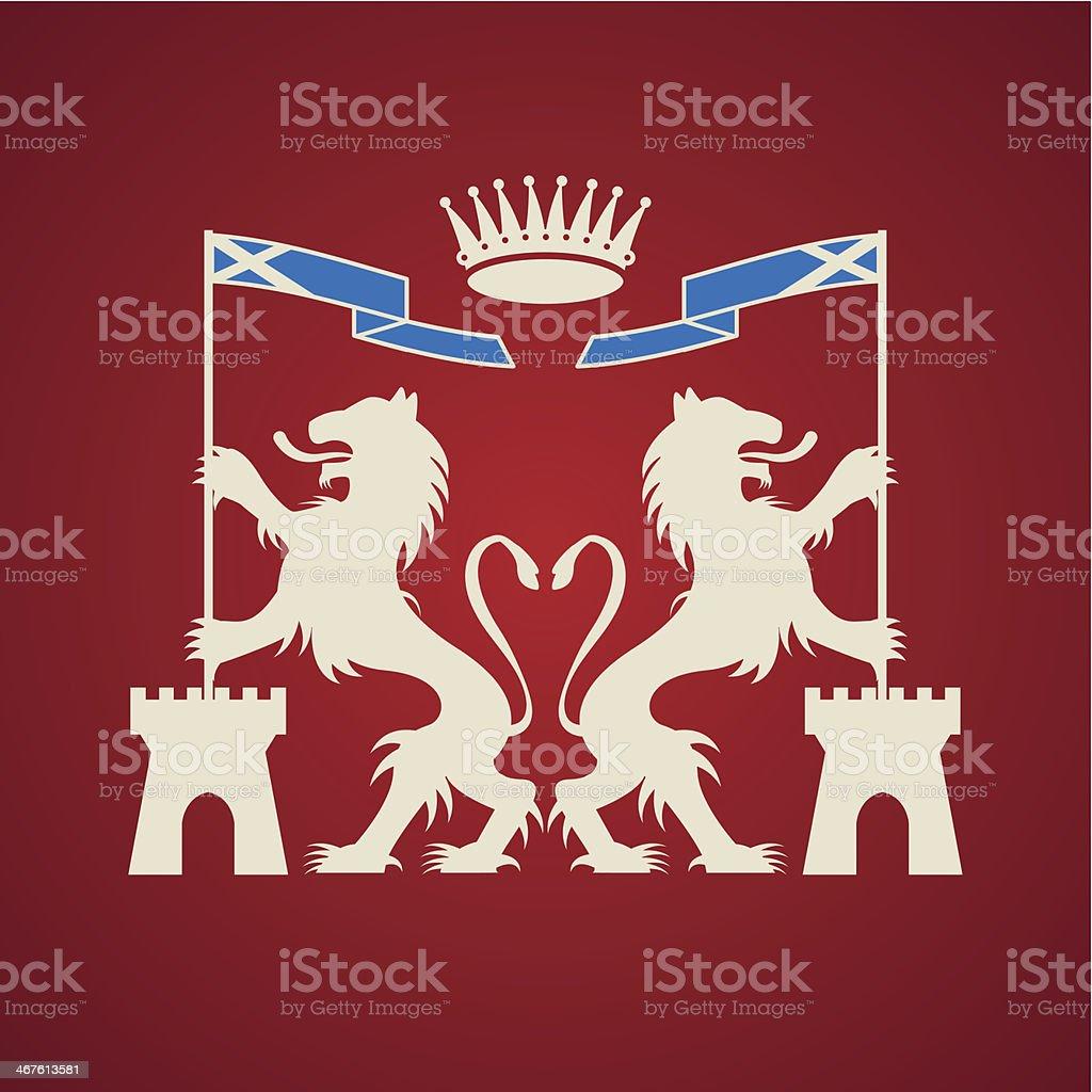 Heraldic emblem royalty-free stock vector art