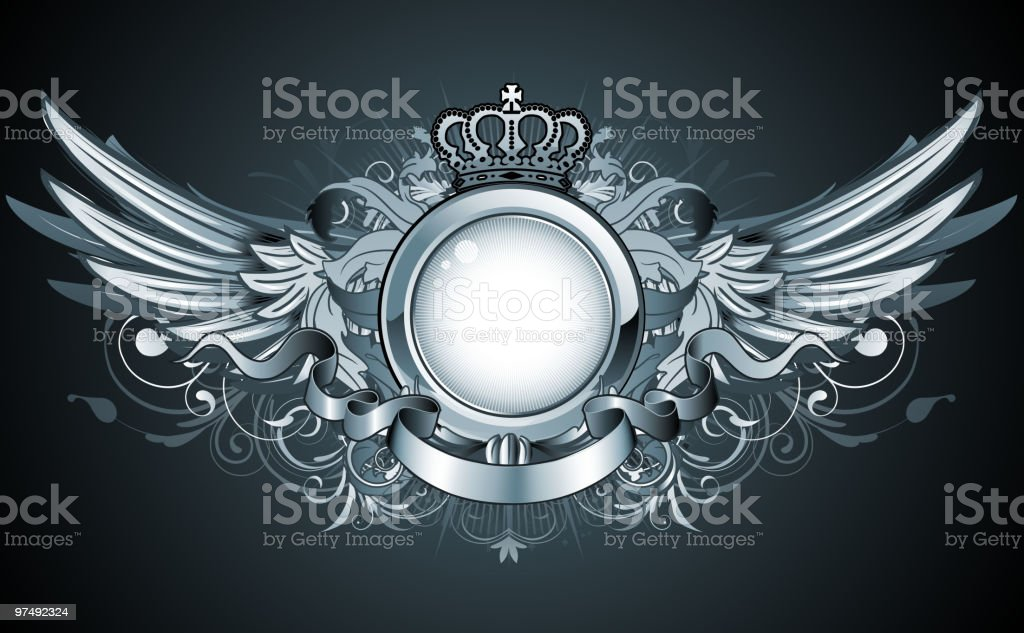 heraldic frame royalty-free heraldic frame stock vector art & more images of abstract