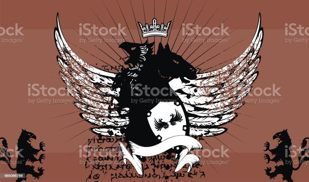 heraldic griffin coat of arms shield tattoo background heraldic griffin coat of arms shield tattoo background - stockowe grafiki wektorowe i więcej obrazów abstrakcja royalty-free