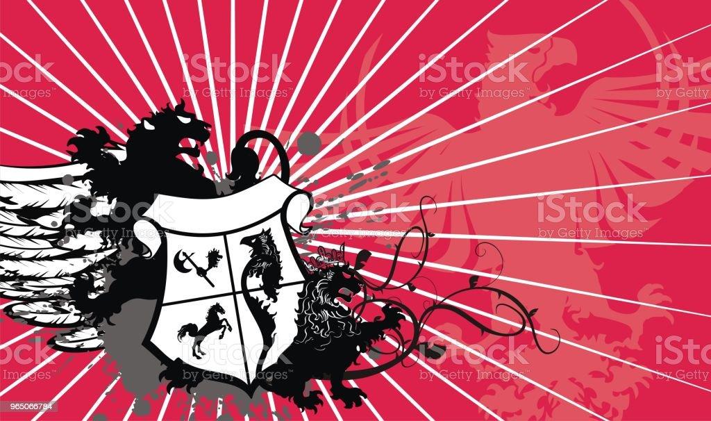 heraldic lion coat of arms shield tattoo background heraldic lion coat of arms shield tattoo background - stockowe grafiki wektorowe i więcej obrazów abstrakcja royalty-free