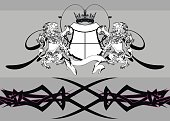heraldic lion coat of arms tattoo background in vector format very easy to edit