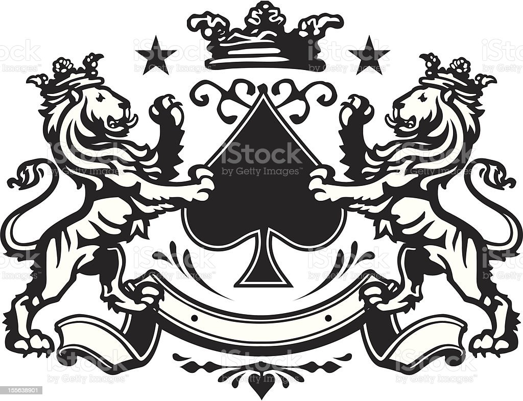 Heraldic Lion Crest 7 Stock Vector Art More Images Of Animal