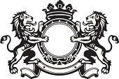 Heraldic Lion Crest 8