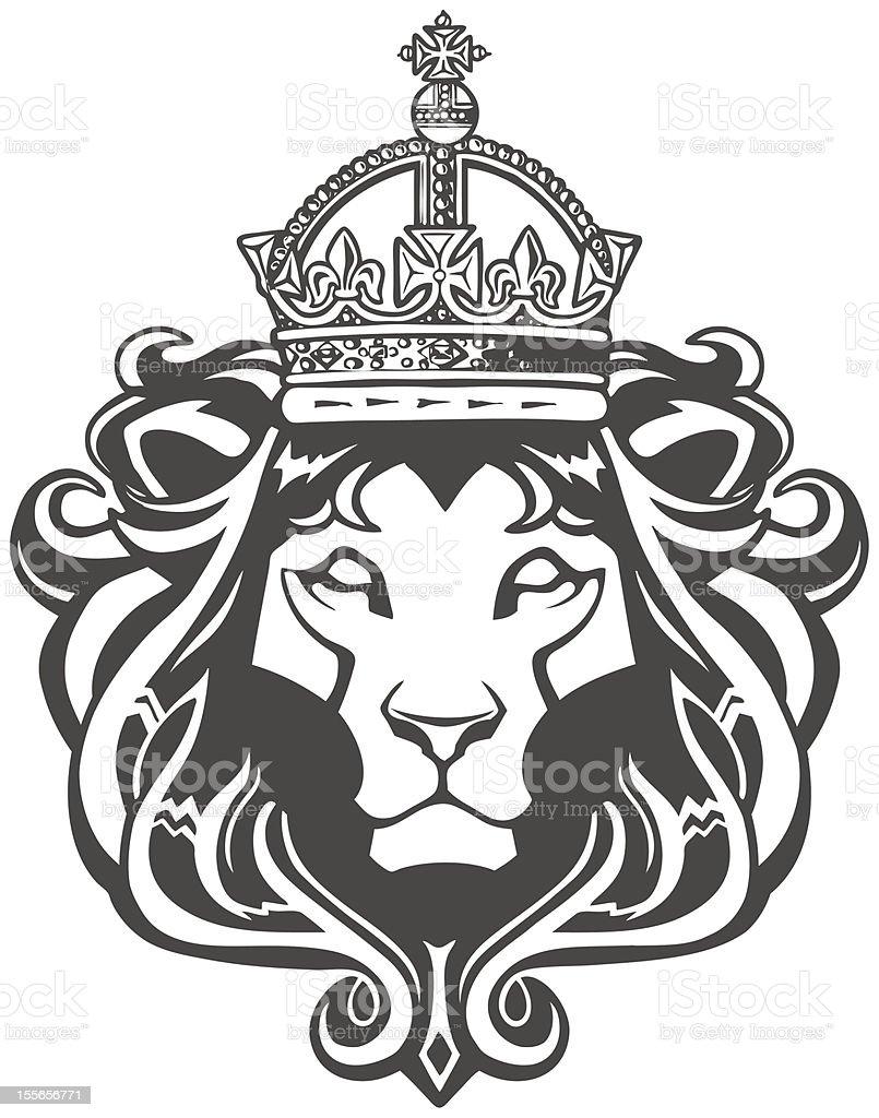 Heraldic Lion vector art illustration