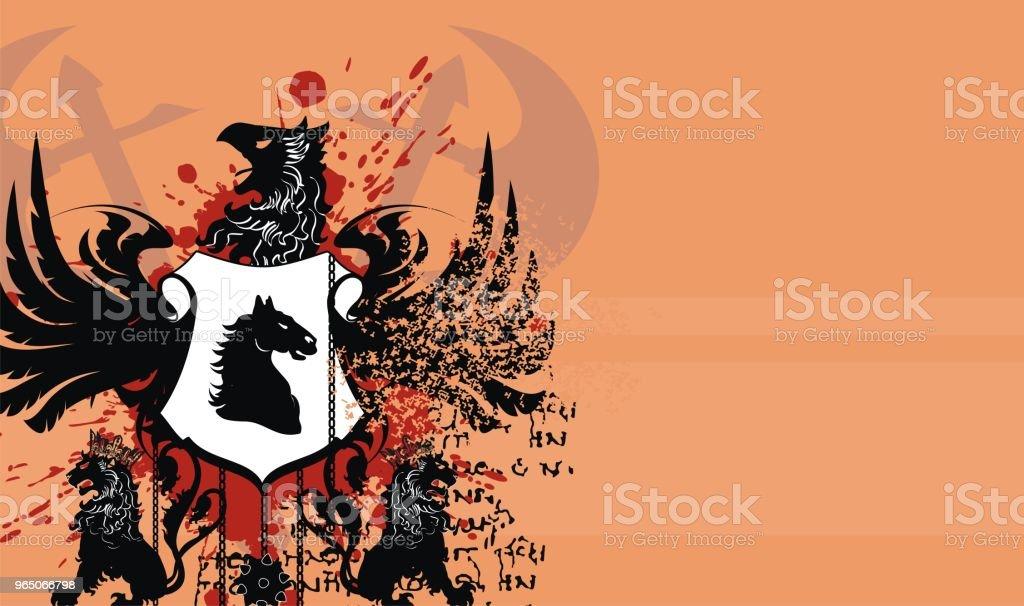 heraldic lions coat of arms shield tattoo background heraldic lions coat of arms shield tattoo background - stockowe grafiki wektorowe i więcej obrazów abstrakcja royalty-free