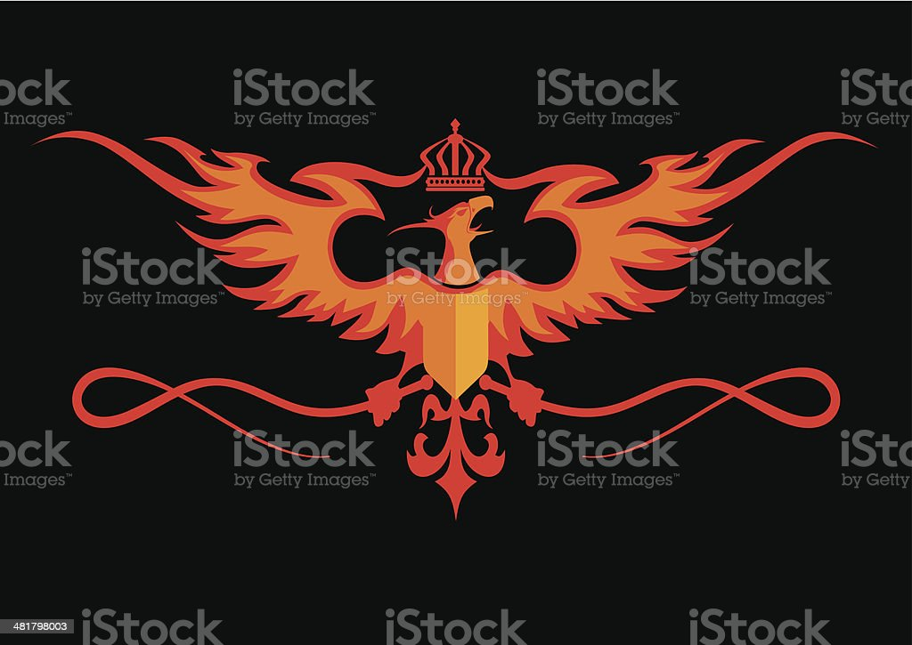 Heraldic Phoenix royalty-free heraldic phoenix stock vector art & more images of animal body part