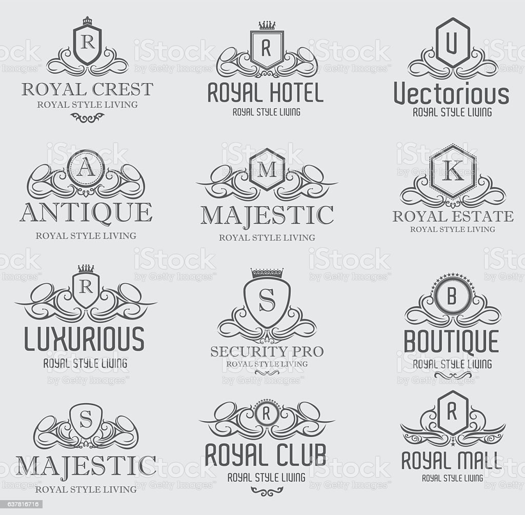 Heraldic Royal Luxurious Crest Design Template Royalty Free Stock