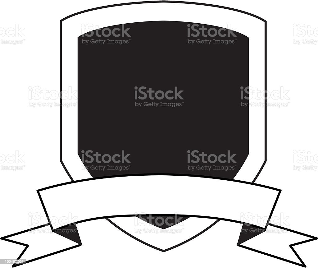 Heraldic Shield & Banner royalty-free heraldic shield banner stock vector art & more images of award ribbon