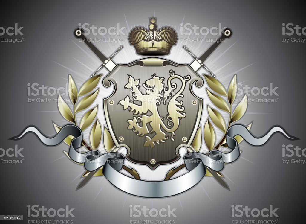 heraldic shield royalty-free heraldic shield stock vector art & more images of animal