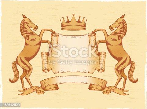 istock Heraldic shield_horse_crown 165612500