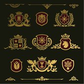 Design Element, heraldic shield
