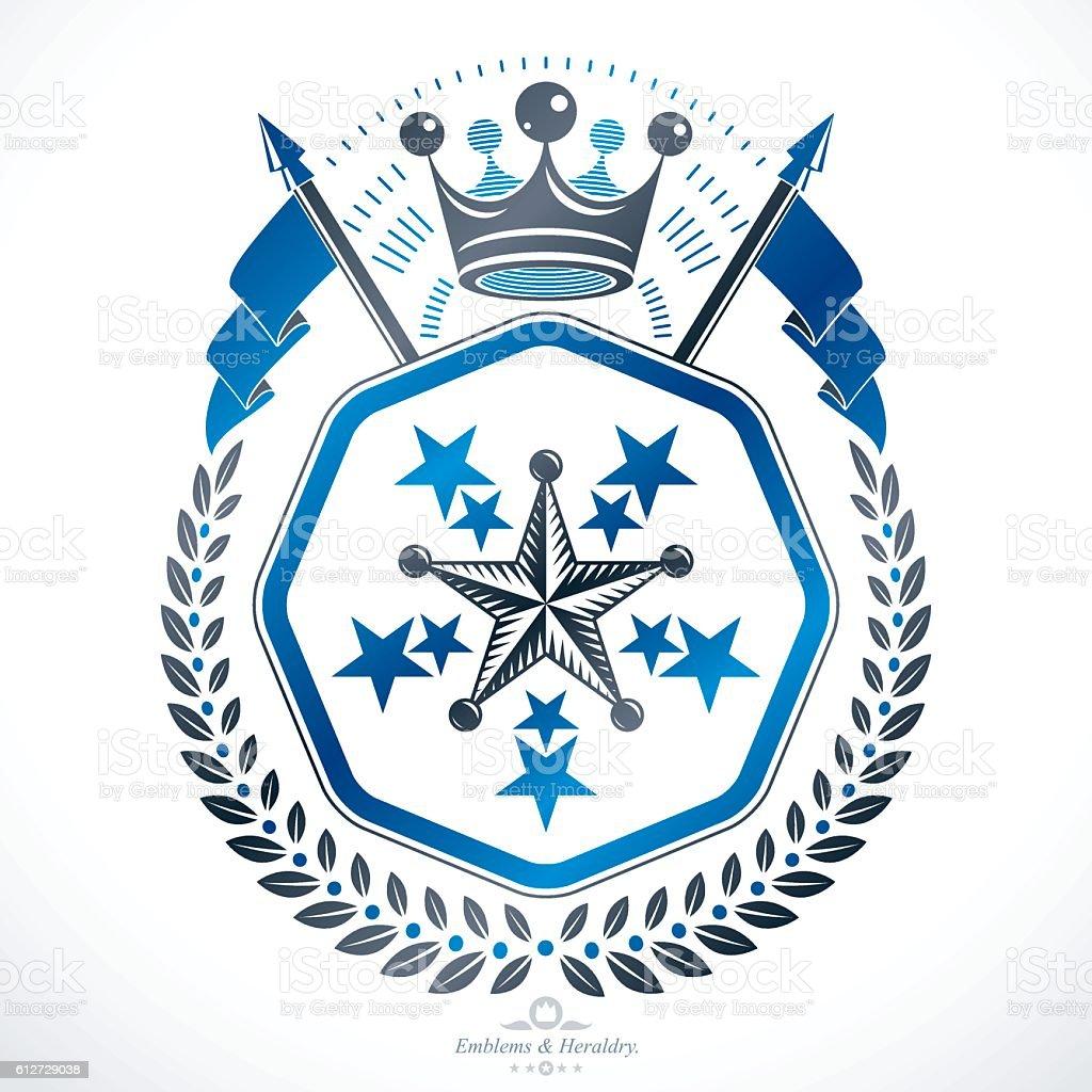 Heraldic sign, element, heraldry emblem, insignia, sign, vector. - ilustração de arte em vetor