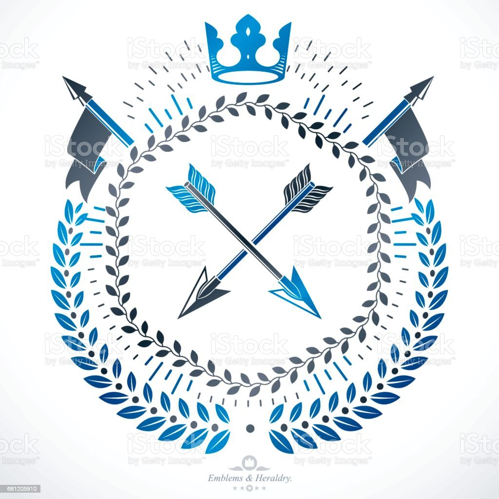 Heraldic sign, element, heraldry emblem, insignia, sign, vector. royalty-free heraldic sign element heraldry emblem insignia sign vector stock vector art & more images of armory