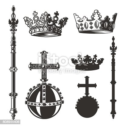 Black and white vector objects