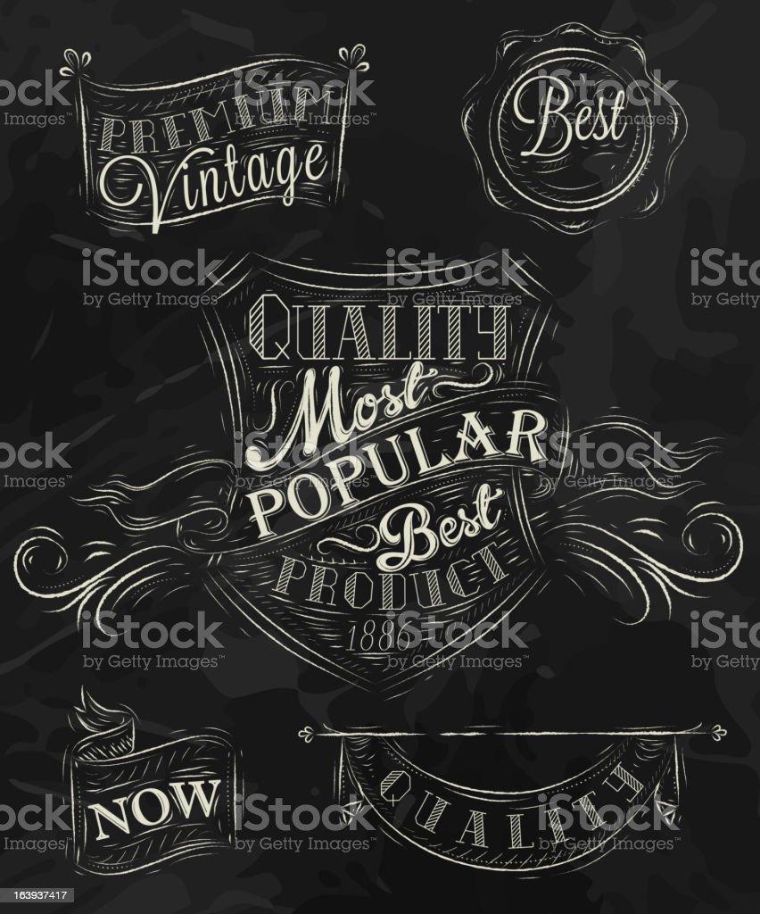 Heraldry chalk premium royalty-free stock vector art