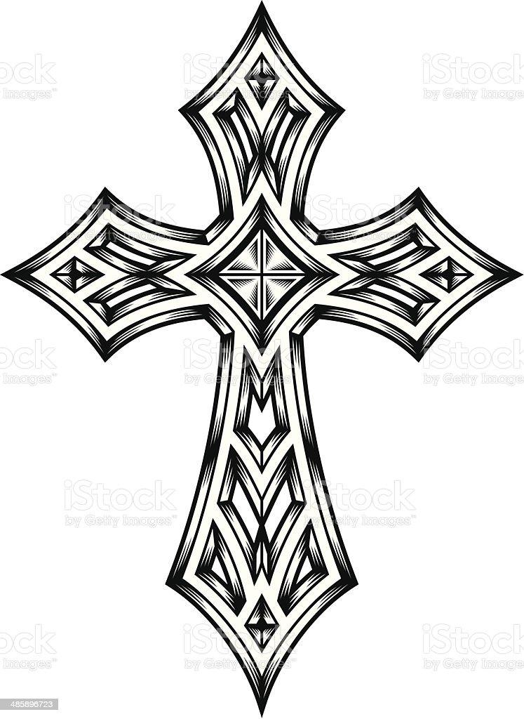 Heraldry Cross vector art illustration