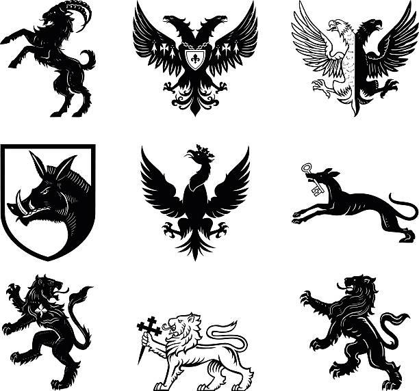 heraldry 설계 - 그리핀 stock illustrations