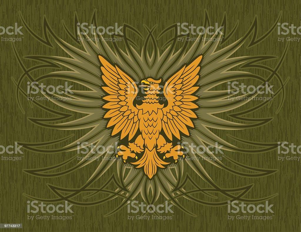 Heraldry Eagle Scrolls royalty-free stock vector art