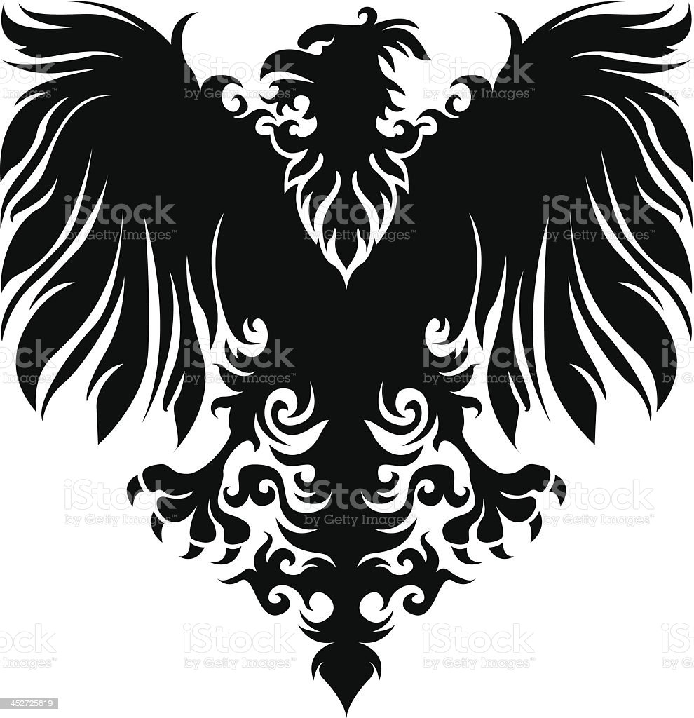 Heraldry eagle royalty-free stock vector art