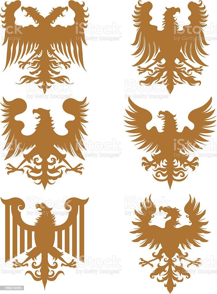 Heraldry Eagles royalty-free stock vector art