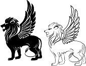Heraldry lion symbol