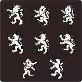 istock Heraldry Lions 165960528