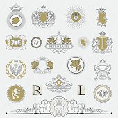 Heraldry outline collection