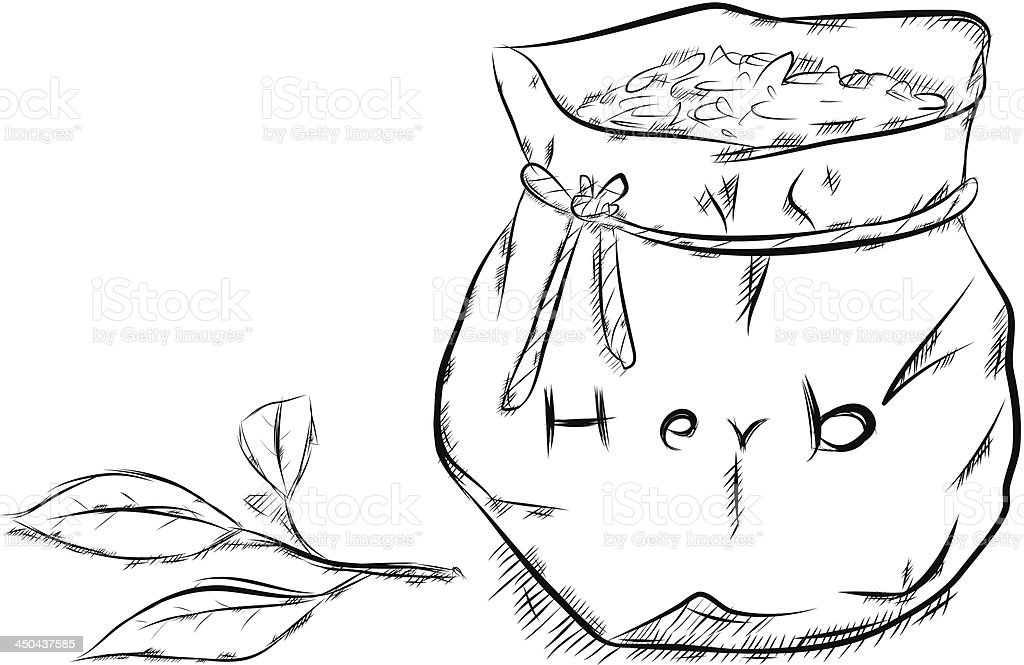 herbal bag royalty-free stock vector art