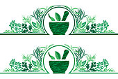 istock Herbal Cooking Frame Border 1266936175