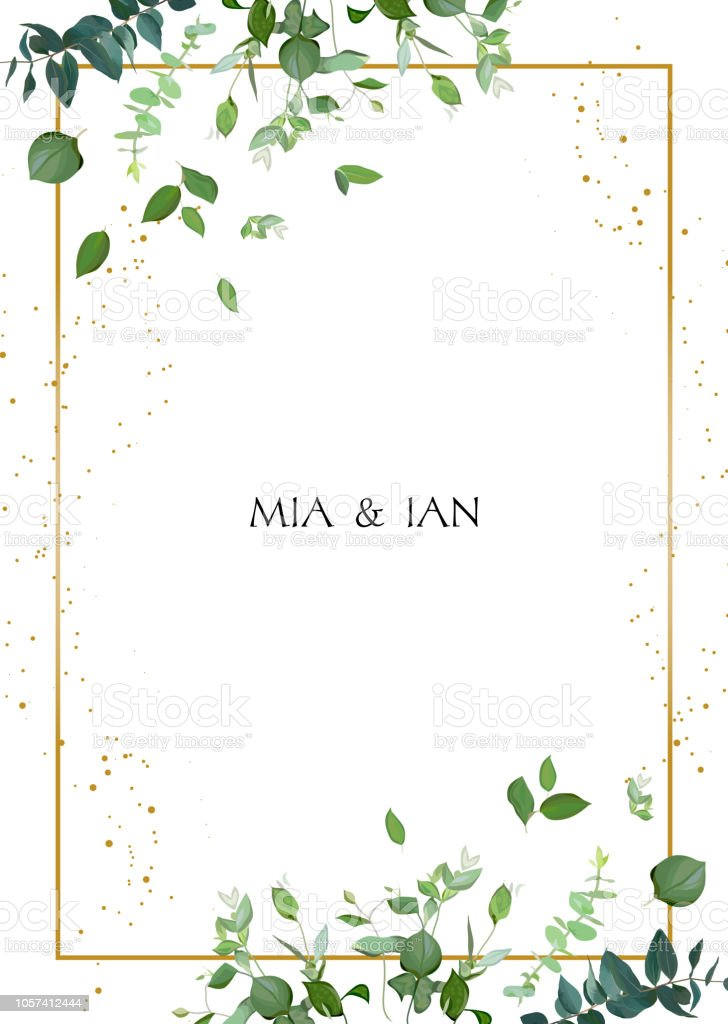 Herbal minimalistic vector frame. royalty-free herbal minimalistic vector frame stock illustration - download image now