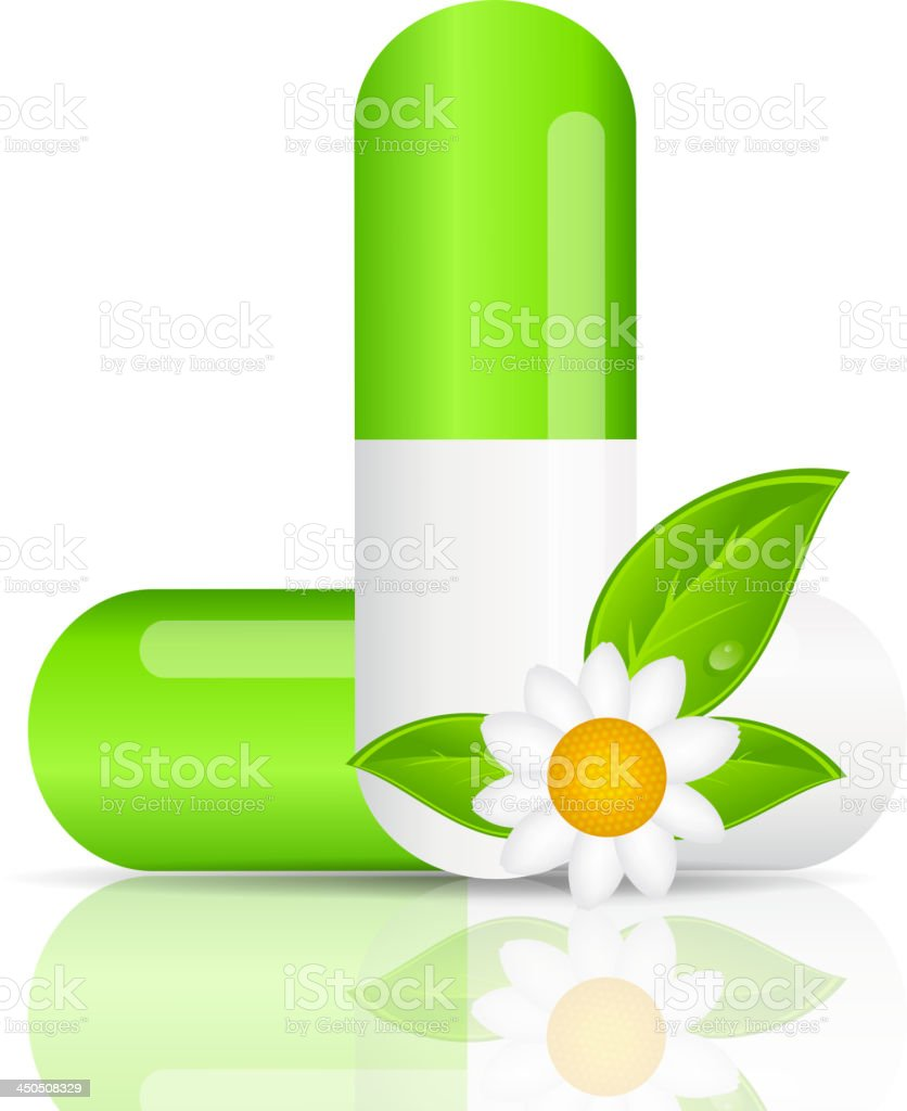 Herbal pill icon.Environment background vector illustration royalty-free stock vector art