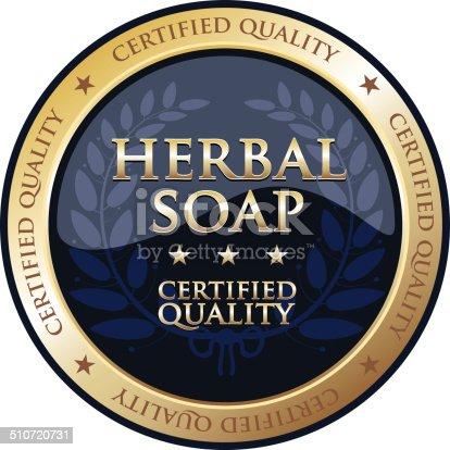 istock Herbal Soap Gold Emblem 510720731