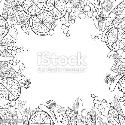 istock Herbal tea background. 1202301476