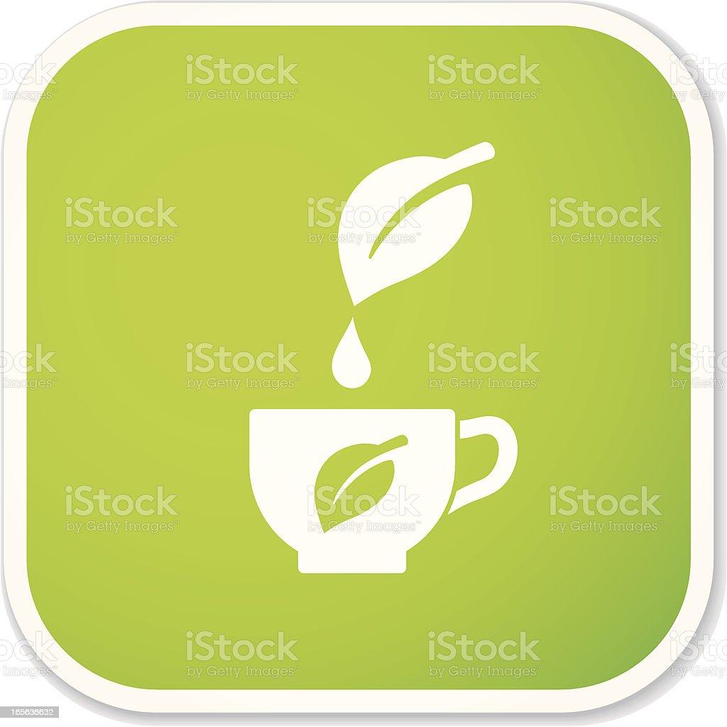 herbal tea sq sticker royalty-free stock vector art