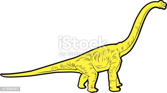 herbivorous dinosaur vector silhouette