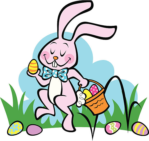 Here Comes the Easter Bunny! vector art illustration
