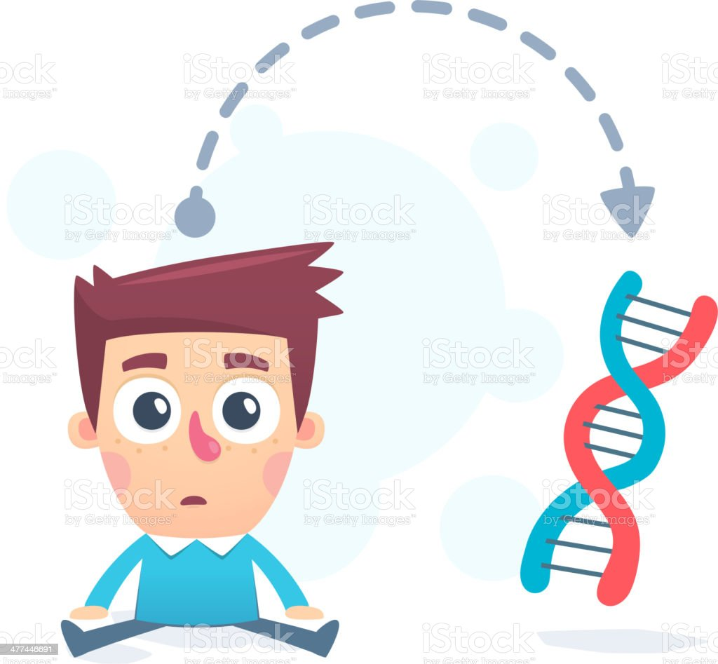 hereditary genes royalty-free stock vector art
