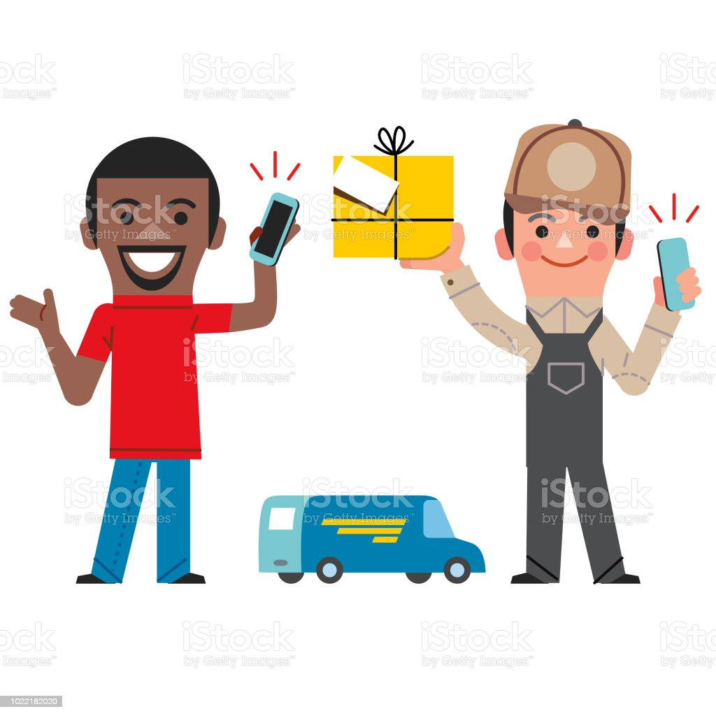 Here's my package vector art illustration